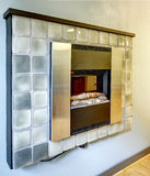 Electrical fireplace on the wall. Stock Photography