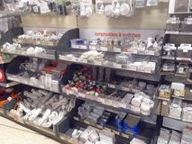 Electrical fittings in a store. Stock Photography