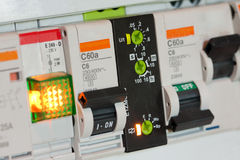 Electrical fuseboxes and components Royalty Free Stock Image