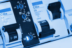 Electrical fuseboxes and components Stock Image