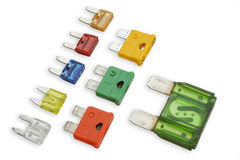 Electrical fuses Stock Photo