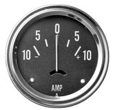Electrical gauge with black face and white numbers Royalty Free Stock Image