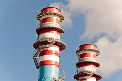 Electrical generator central tower Royalty Free Stock Photos