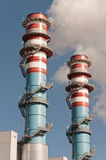 Electrical generator central tower. Industry production Royalty Free Stock Photos