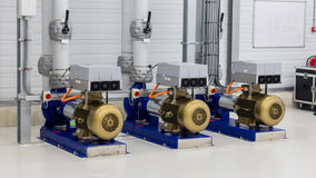 Electrical generator used for distributing water Stock Photos