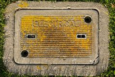 Electrical ground box Royalty Free Stock Photo