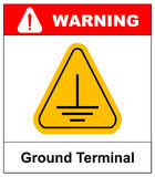 Electrical grounding sign. Royalty Free Stock Photo