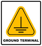 Electrical grounding sign. Royalty Free Stock Photos