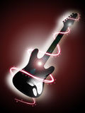 Electrical guitar 2. Illustration of an electrical guitar Royalty Free Stock Photography