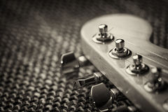 Electrical guitar headstock closeup royalty free stock photography