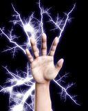 Electrical Hand. A hand that is shooting out electricity Royalty Free Stock Photos