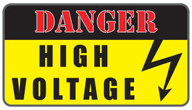 Electrical Hazard High Voltage Sign Royalty Free Stock Images