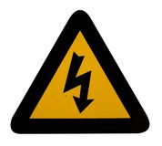 Electrical hazard warning sign Royalty Free Stock Photos