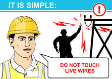 Electrical hazards. Royalty Free Stock Photo