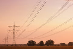 Electrical High Tension Lines Royalty Free Stock Image