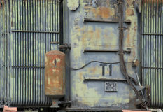 Electrical high voltage substation stock photo