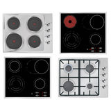 Electrical hob, Gas stove, Surface electric stove. Stock Image