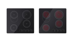 Electrical Hob And Inductive Stove. Top View Stock Photo