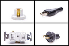 Electrical household equipment set Stock Images