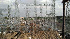 Electrical hybrid substation Royalty Free Stock Photography