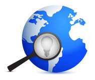 Electrical icon with earth and bulb Royalty Free Stock Image