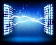 Electrical impulse. Vector illustration. Discharge of electricity, lightning. Vector illustration Stock Image
