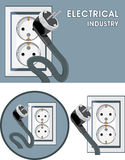 Electrical industry. Symbol set for design Stock Image