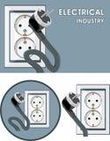 Electrical industry. Symbol set for design stock image