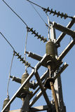 Electrical insulators. And cable Stock Images