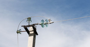 Electrical Insulators on Pole Stock Photography