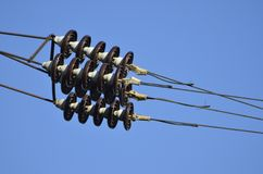 Electrical insulators Stock Photography