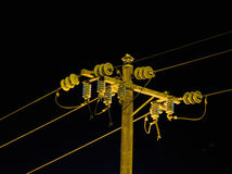 Electrical insulators Royalty Free Stock Photography