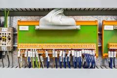 Electrical interface board Stock Photos