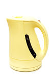 Electrical kettle. Yellow electrical kettle isolated on white background Royalty Free Stock Images