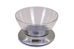 Electrical kitchen scale Royalty Free Stock Photography