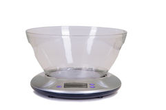 Electrical kitchen scale Royalty Free Stock Photo