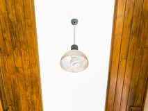 Electrical lamp installed in the ceiling Stock Photography