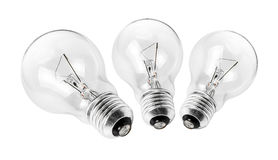Electrical light bulb group Royalty Free Stock Photo