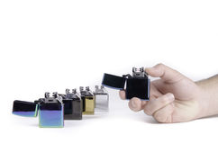 Electrical lighters Stock Photo
