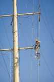 Electrical line maintenance Royalty Free Stock Image