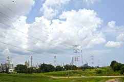 Electrical line tower Royalty Free Stock Photography