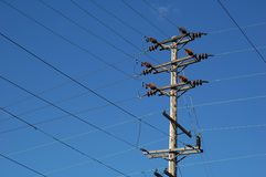 Electrical Lines Royalty Free Stock Photos