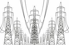 electrical lines power sky Στοκ εικόνα με δικαίωμα ελεύθερης χρήσης