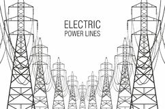 electrical lines power sky Στοκ Φωτογραφία