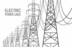 electrical lines power sky Στοκ Φωτογραφίες