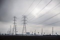 electrical lines power sky стоковые изображения