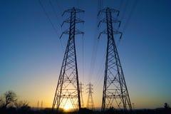 electrical lines power sky 免版税库存图片