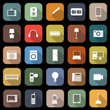 Electrical Machine flat icons with long shadow Stock Photos