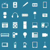 Electrical Machine icons on blue background Royalty Free Stock Image