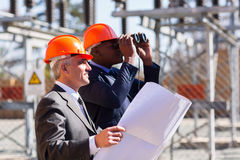 Electrical managers binoculars Royalty Free Stock Photos